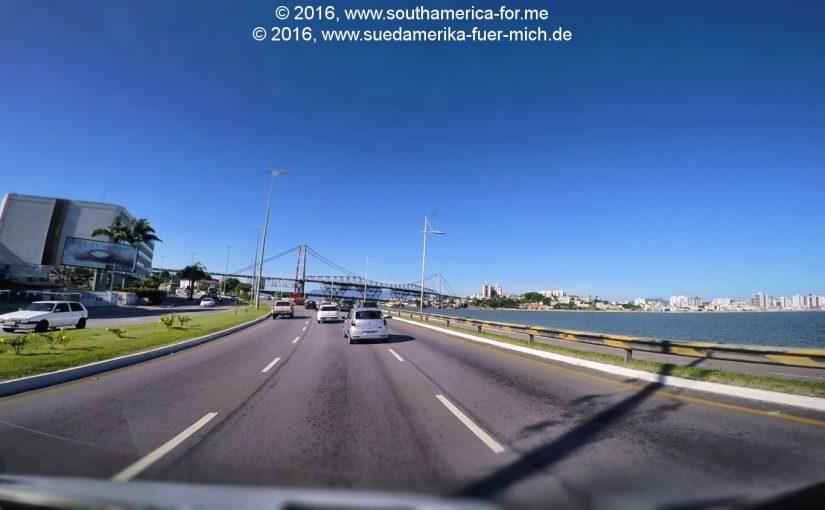 Video: Wir fahren von Florianópolis nach Itapema