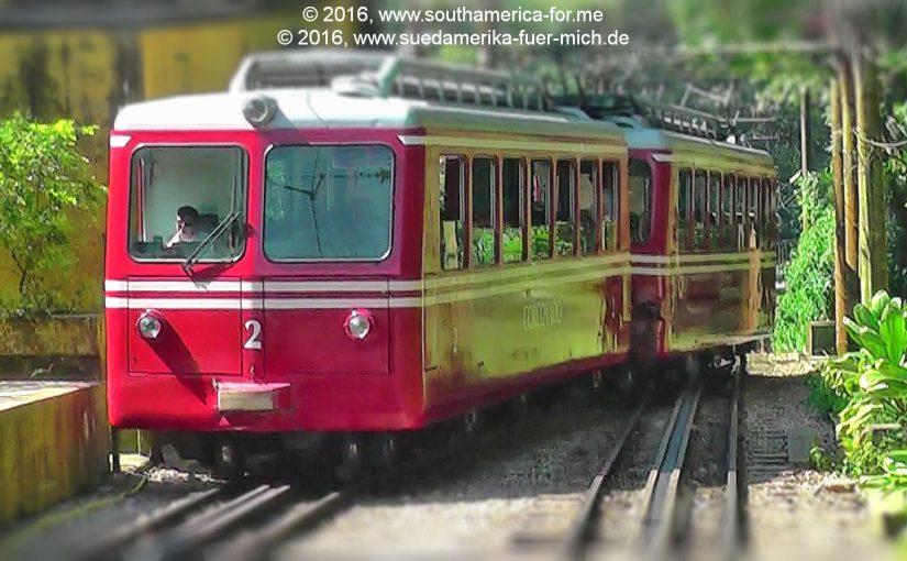 Mit der Zahnradbahn hinunter vom Corcovado