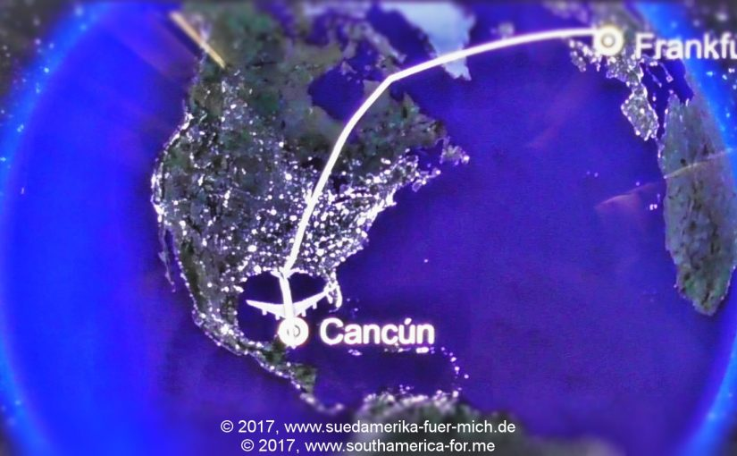 Anflug auf Cancún